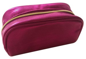 Other Pink with Gold Zip Shiny Cosmetic Bag