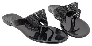 279df653d7e6f Salvatore Ferragamo 0574487 Nero Black Sandals. Salvatore Ferragamo Nero Black  Pandy Jelly Thong ...