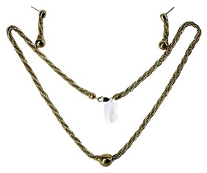 Other 10kt Gold Two Tone Bulgara (5 mm) Necklace and Earrings