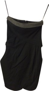 Haniiy short dress Black & grey on Tradesy