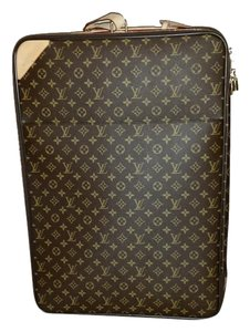 Louis Vuitton Monogram Canvas Chocolate Brown and Gold Travel Bag