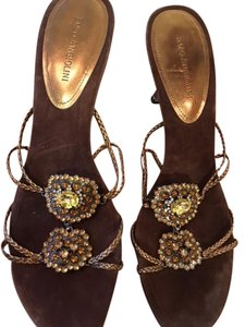 Enzo Angiolini Crystal Bronze Gold/Brown Sandals