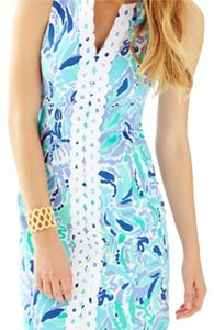 Lilly Pulitzer short dress White, blue, purple on Tradesy