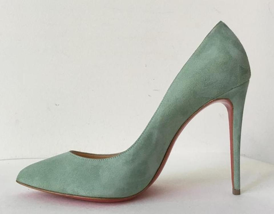 4a4321f7bdc8 Christian Louboutin Green Pigalle Follies 100 Amande Mint Suede Pumps