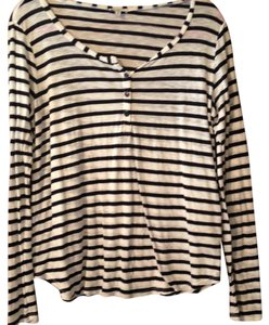 Splendid T Shirt Blue and white striped