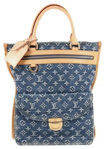 Louis Vuitton Denim Sac Plat Tote
