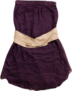 Haute Hippie short dress Purple Leather Belt on Tradesy