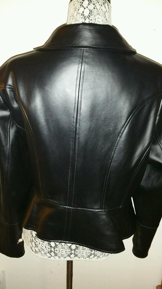 142bb7ac1deef G.I.L.I. Black Plus-size Lamb Leather Jacket Size 22 (Plus 2x) - Tradesy