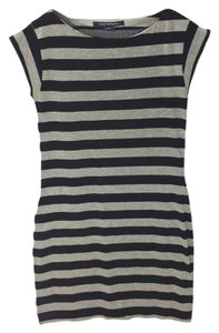 French Connection short dress NAVY/ GREY Striped Cotton Sleeveless on Tradesy