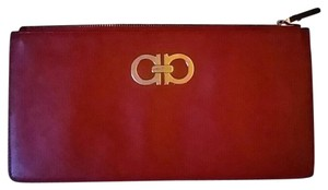 Salvatore Ferragamo Wristlet in Red