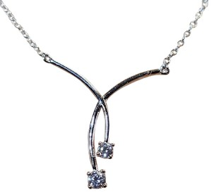 Other Ravishing Sterling Silver CZ Infinity Necklace