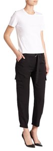 Theory Linen Cargo Cargo Pants Black
