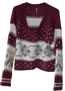 Free People Holiday Chunky Knit Oversized Sweater
