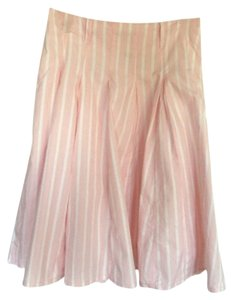 Express Skirt Pink and white