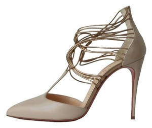 Christian Louboutin Confusa 100 Nude Nude, Gold Pumps