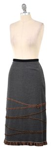 Neesh by D.A.R. Felted Velvet Ribbon Skirt Charcoal Gray