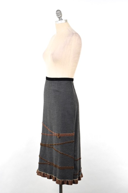 Neesh by D.A.R. Felted Velvet Ribbon Skirt Charcoal Gray Image 2