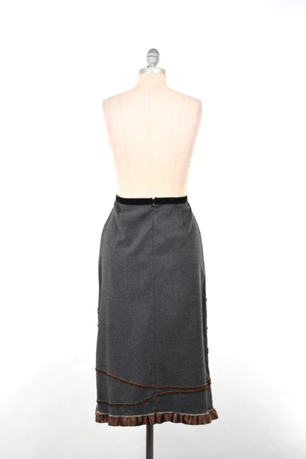 Neesh by D.A.R. Felted Velvet Ribbon Skirt Charcoal Gray Image 3