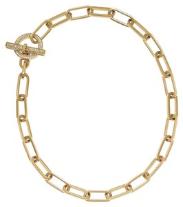 Michael Kors MICHAEL KORS CHAIN LINK PAVE TOGGLE NECKLACE GOLD TONE BAG MKJ4601