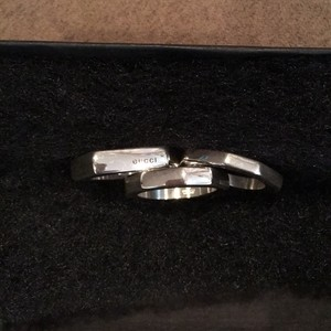 Gucci Three sterling silver Gucci stacking Rings