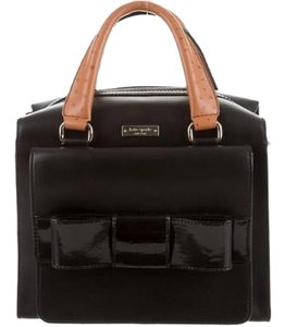 Kate Spade Leather Top Zip 14k Gold Plated Satchel in Black