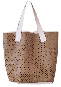 Saks Fifth Avenue Tote in Brown, White