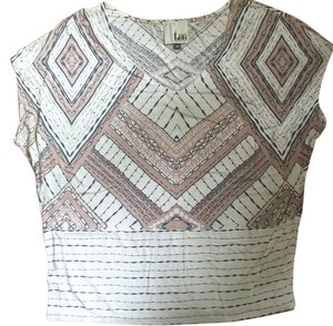 Anthropologie T Shirt Beige and black
