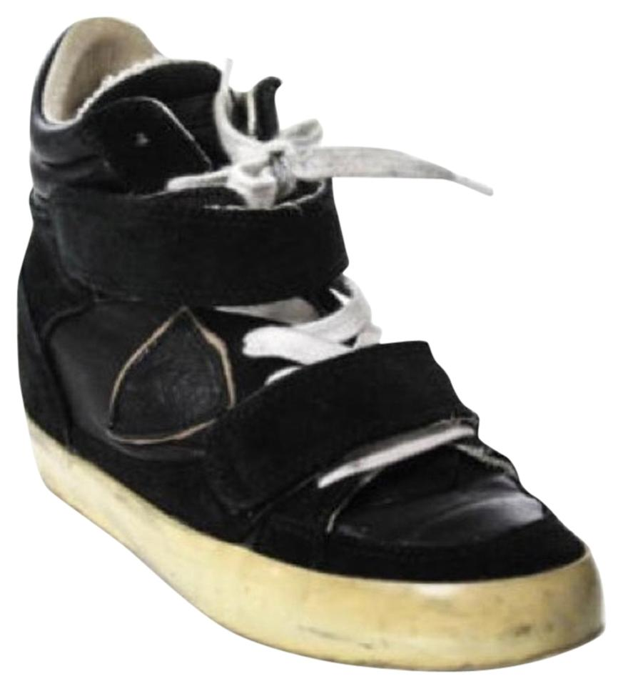 88441ef8a69a Philippe Model Black Hi-top Wedge Trainers Sneakers Size US 7 ...