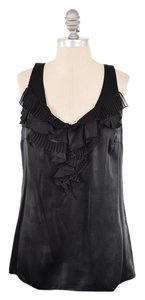 White House | Black Market Silk Charmeuse Sleeveless Top Black