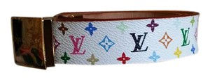 Louis Vuitton Louis Vuitton White Monogram Multicolors Belt Size 80/32