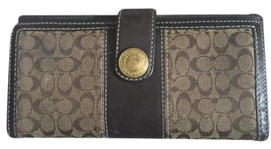 Coach Coach Leather Monogram Wallet