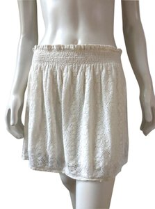 Forever 21 Lined Lacey Mini 7538 Mini Skirt Ivory