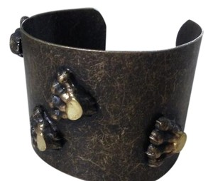 Other NEW brass metal wide bracelet with paws