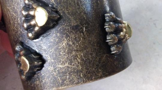 Other NEW brass metal wide bracelet with paws Image 1