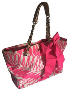 Kate Spade Bow Chain Hawaiian Tote in Hot Pink