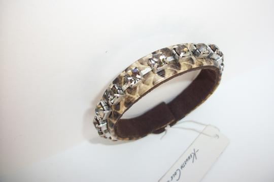 Kenneth Cole New! Kenneth Cole Urban Snake Print and Smokey Crystals Wrap Cuff Bracelet