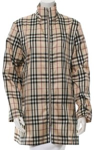 Burberry Nova Check Plaid Belted Trench Coat