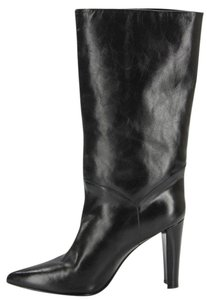 Stuart Weitzman Pull On Mid Black Calf Boots