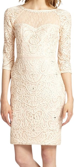 Preload https://item1.tradesy.com/images/sue-wong-champagne-illusion-macrame-34-sleeve-sheath-above-knee-cocktail-dress-size-8-m-1950285-0-0.jpg?width=400&height=650