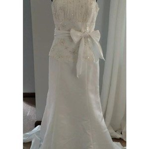 Eden Strapless Formal Wedding Dress Size 8 (M)
