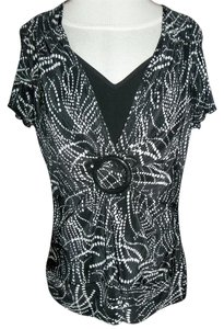 Notations And Ruffle Top black with white dots