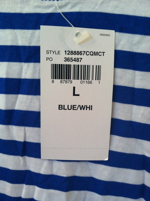 Ralph Lauren T Shirt Bright Blue White Stripe