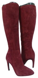 Via Spiga Suede Knee High Boot Boot Red Boots