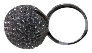 Size 9 silver metal sparkling ring