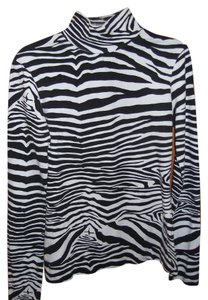 Express Top Black and White, Zebra Print