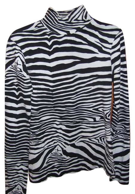 Express Top Black and White, Zebra Print Image 0