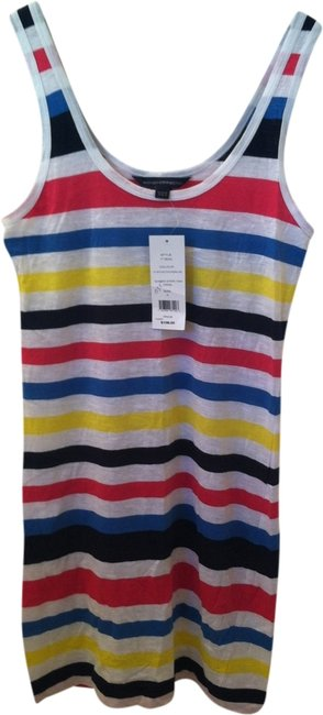 Preload https://item5.tradesy.com/images/french-connection-dress-white-yelllow-pink-blue-stripe-1950329-0-0.jpg?width=400&height=650
