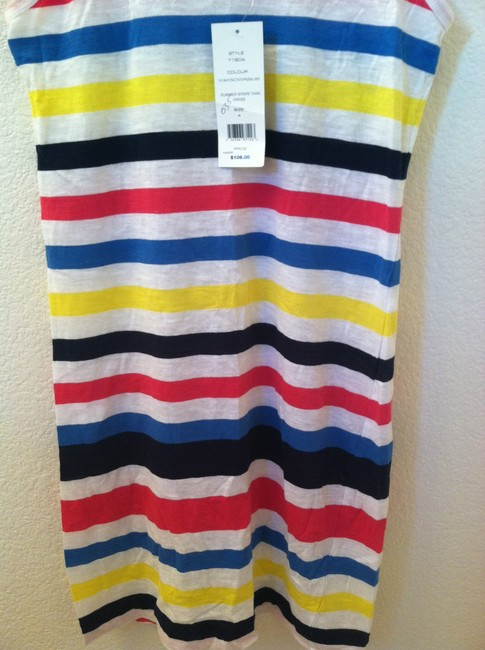 French Connection short dress White Yelllow Pink Blue Stripe on Tradesy