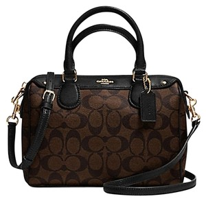 Coach Bennett Cross Body Satchel in BROWN/BLACK