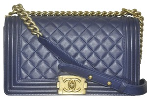 Chanel Le Boy Old Medium Flap Handbag Shoulder Bag